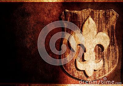 Grunge Fleur-de-lis - floral symbol