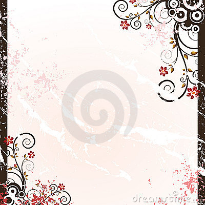 Free Grunge Floral Background Stock Image - 8775141