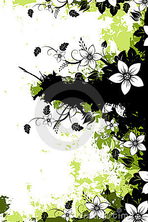 Free Grunge Floral Background With Copyspace Stock Image - 9874661