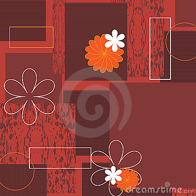 Free Grunge Floral Background With Frame - Vector Stock Photo - 12373090