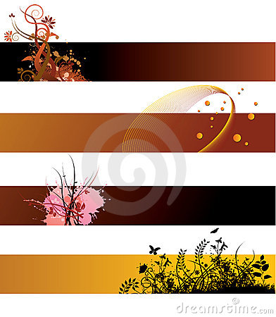 Free Grunge Floral Banners Stock Photography - 6006012