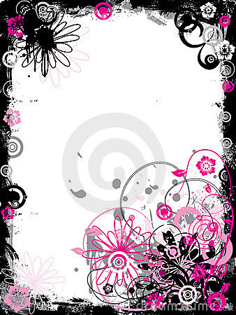 Free Grunge Floral Border, Vector Royalty Free Stock Image - 2187926