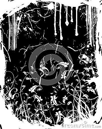 Free Grunge Floral Frame Royalty Free Stock Images - 1844129