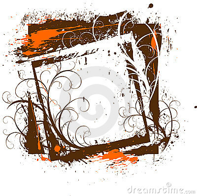 Free Grunge Floral Frame Royalty Free Stock Photography - 2021537
