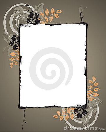 Free Grunge Floral Frame Stock Image - 7992201