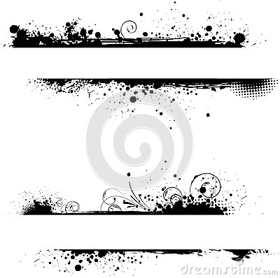 Free Grunge Floral Frame Banners Royalty Free Stock Photos - 24752598