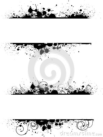 Free Grunge Floral Frame Banners Royalty Free Stock Photos - 39102788