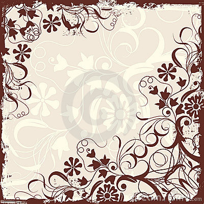 Free Grunge Floral Frame, Vector Stock Photography - 2255512