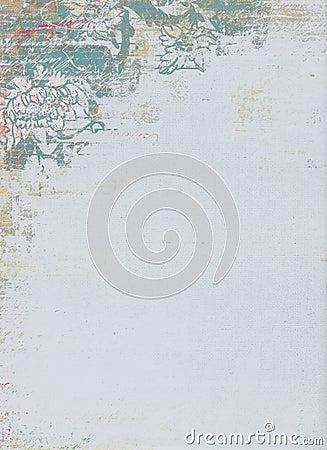 Grunge floral pattern design