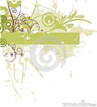 Grunge flower banners