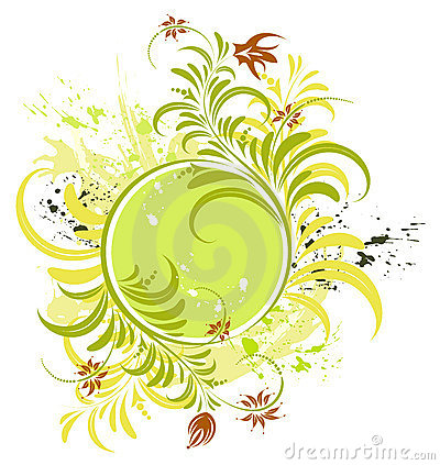 Free Grunge Flower Frame Stock Image - 2550111