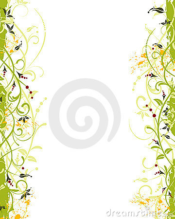 Free Grunge Flower Frame Stock Photo - 2640990