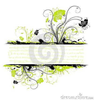 Free Grunge Flower Frame Royalty Free Stock Image - 2753866
