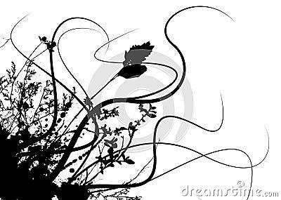 Grunge flower storm
