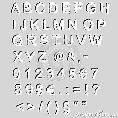 Grunge font - vector