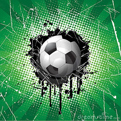 Grunge football background