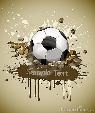 Free Grunge Football Soccer Ball Falling On Ground Royalty Free Stock Photography - 19157097