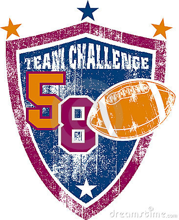 Grunge football team shield
