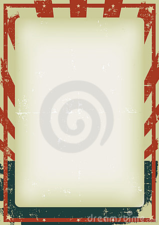 Grunge Fourth Of July Poster Background