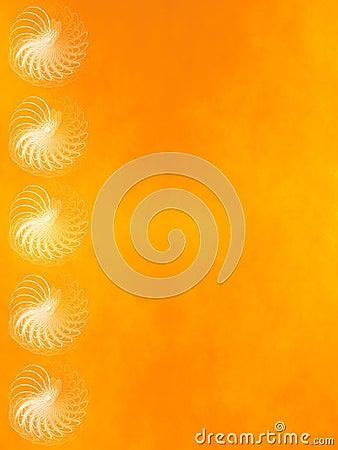 Grunge fractal background: orange