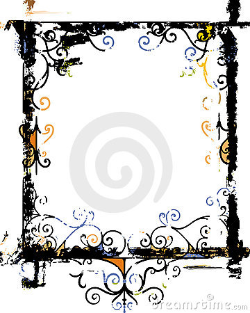 Grunge frame and border series