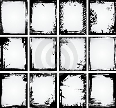 Free Grunge Frame Collection Stock Images - 10859834