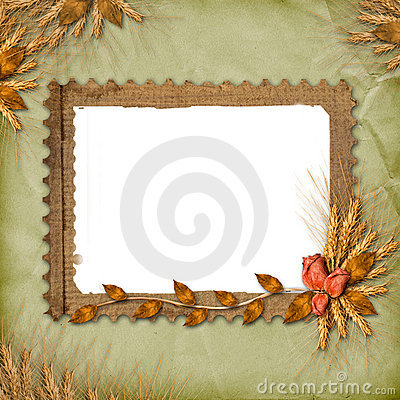 Free Grunge Frame In Scrapbooking Style With Bunch Royalty Free Stock Images - 11554739