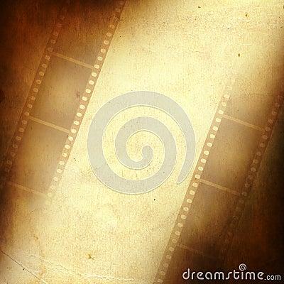 Grunge frame made from photo film strip