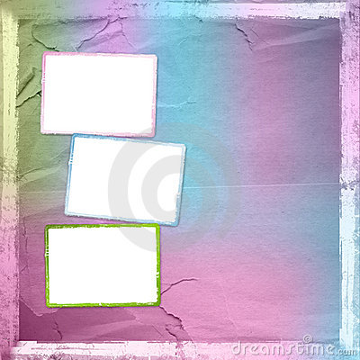Grunge frame from old paper