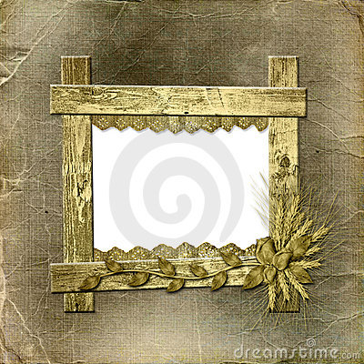 Grunge frame in scrapbooking style