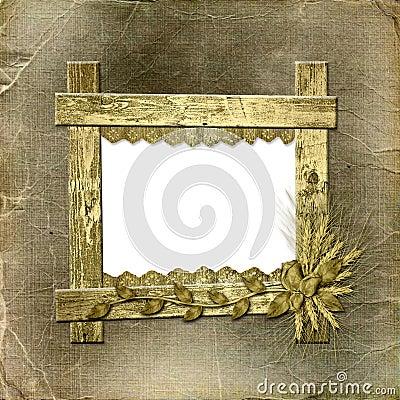 Grunge frame in scrapbooking style