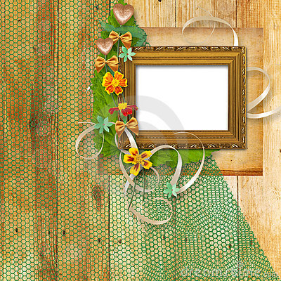 Grunge frame in the Victorian style