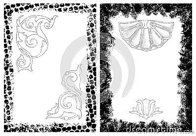Grunge frames and design elements