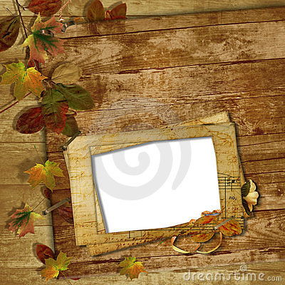 Grunge frames for the photo on a wooden background