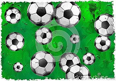 Grunge Fußball
