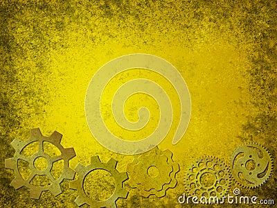 Grunge Gears Background