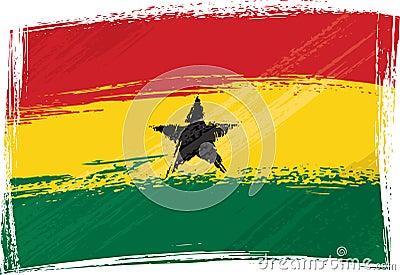 Grunge Ghana flag