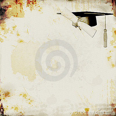 Grunge Graduation Background