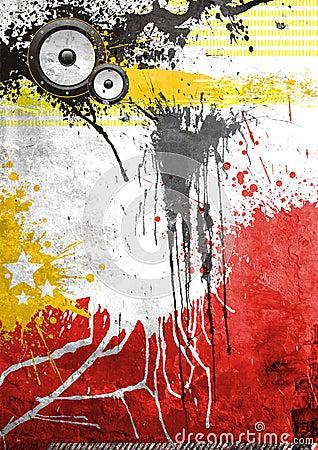 Grunge Graffiti Music Poster