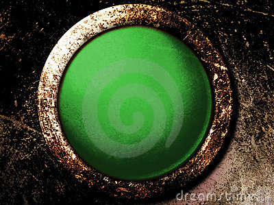 Grunge Green Button