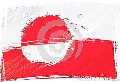 Grunge Greenland flag