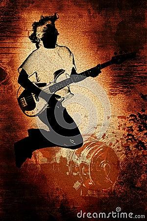 Grunge Guitar Player Teen