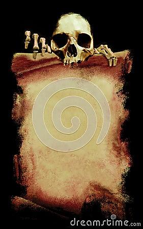 Grunge Halloween plakat