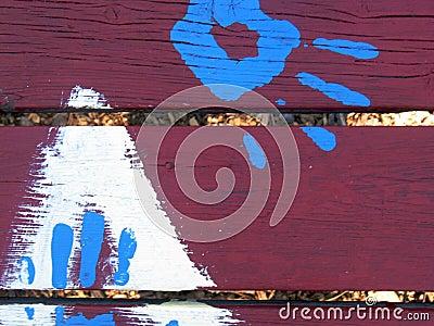 Grunge handprint background
