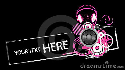 Grunge headphones design