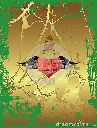 Grunge heart.