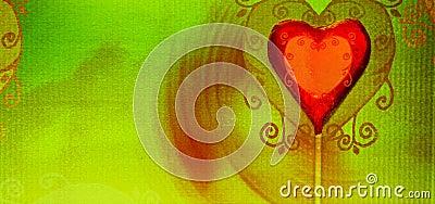 Grunge heart candy