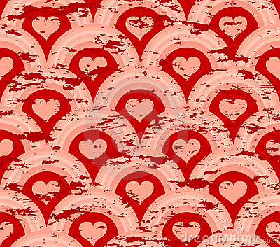 grunge heart symmetry pattern