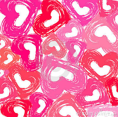 Grunge Hearts Wallpaper