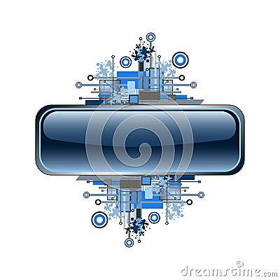 Free Grunge & Hi-tech Vector Banner Or Button. Stock Photos - 4839263